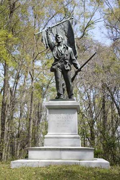 standing RI Memorial in Vicksburg