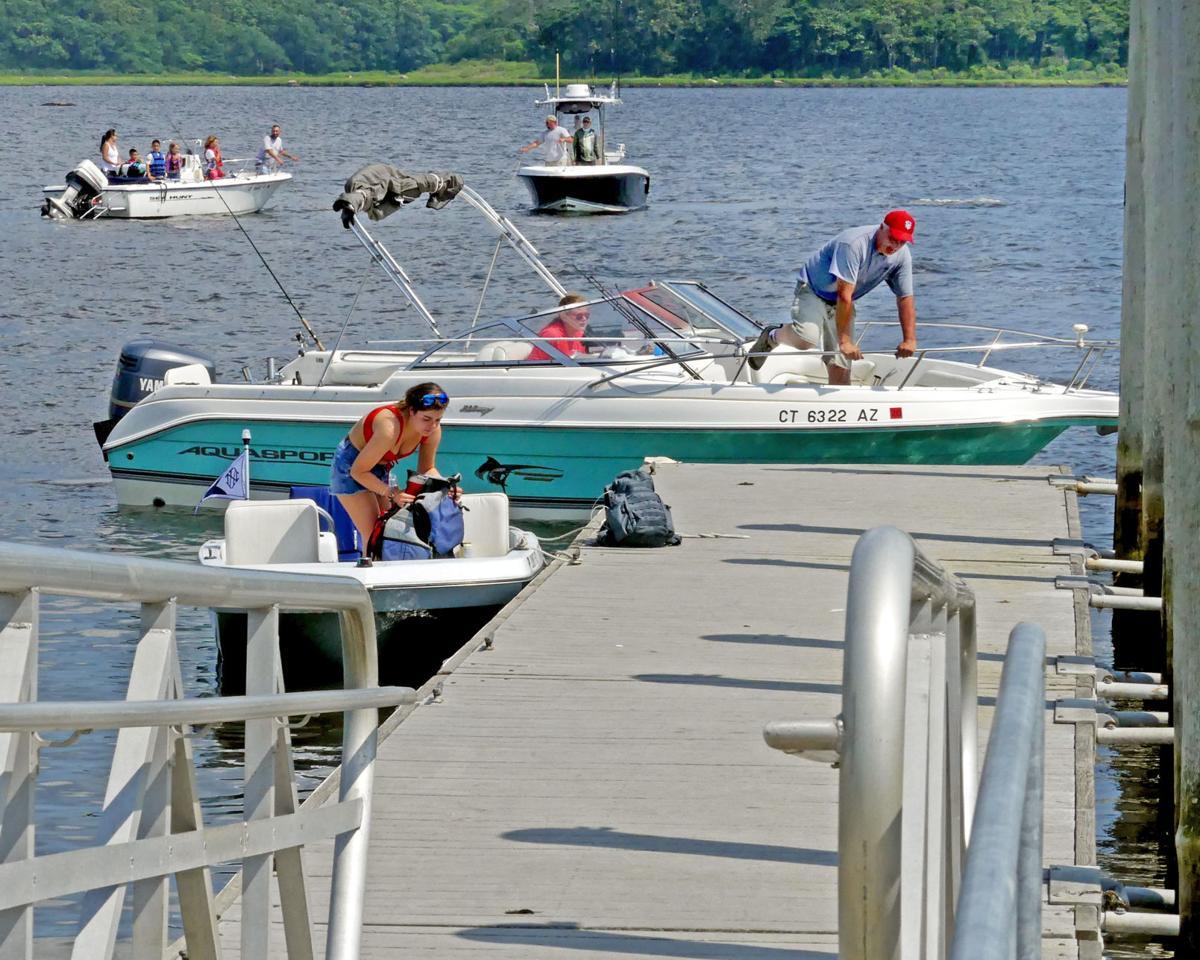 PHOTOS: Busy boat launch at Barn Island | Stonington ...