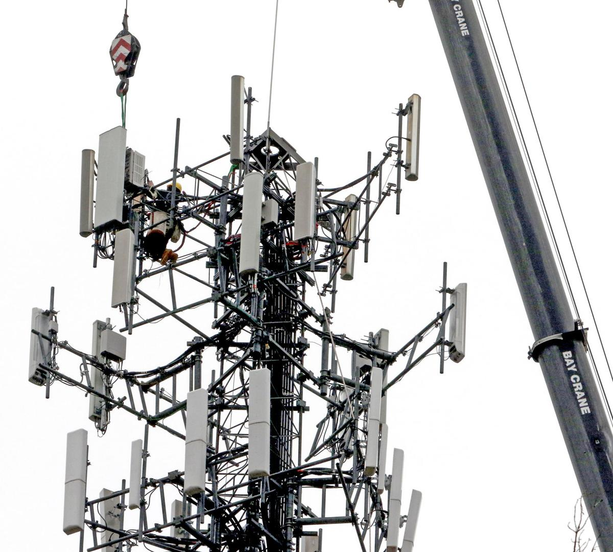 Cell tower work in Hopkinton