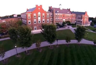 A view of Westerly High School at dawn, courtesy of Chris Walsh via the Ocean House You Tube page