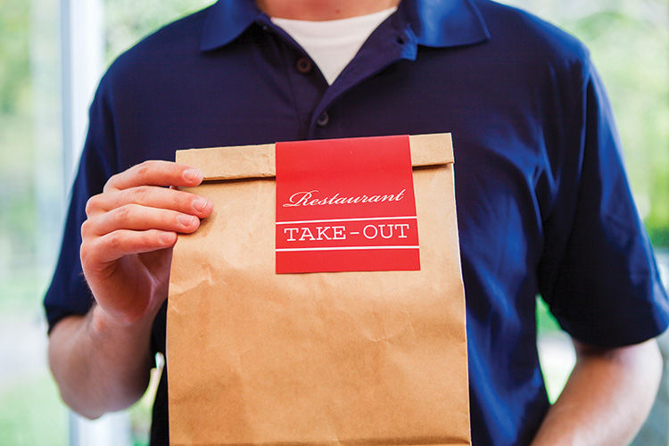 Local restaurants and takeout/delivery statuses