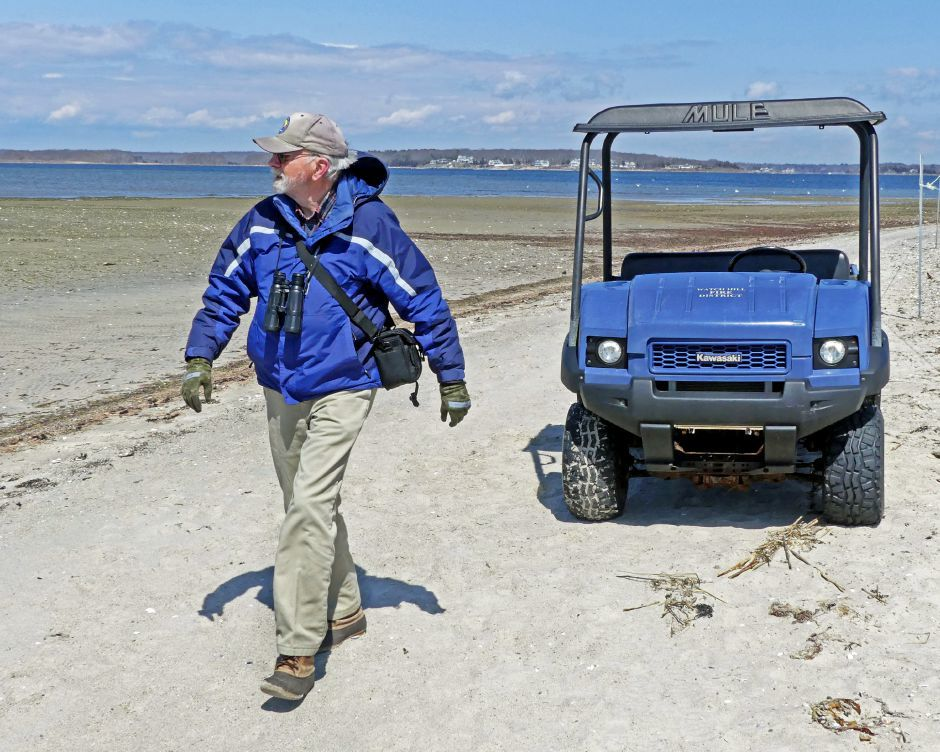 Veteran birder Rey Larsen has helped make Napatree Point a global hot spot for avian research
