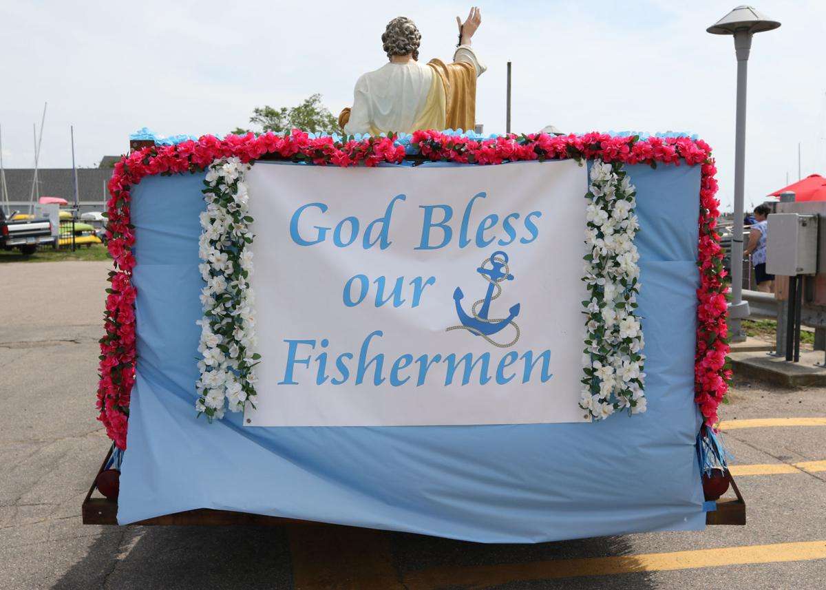 The statue of St. Peter at the Blessing of the Fleet in Stonington