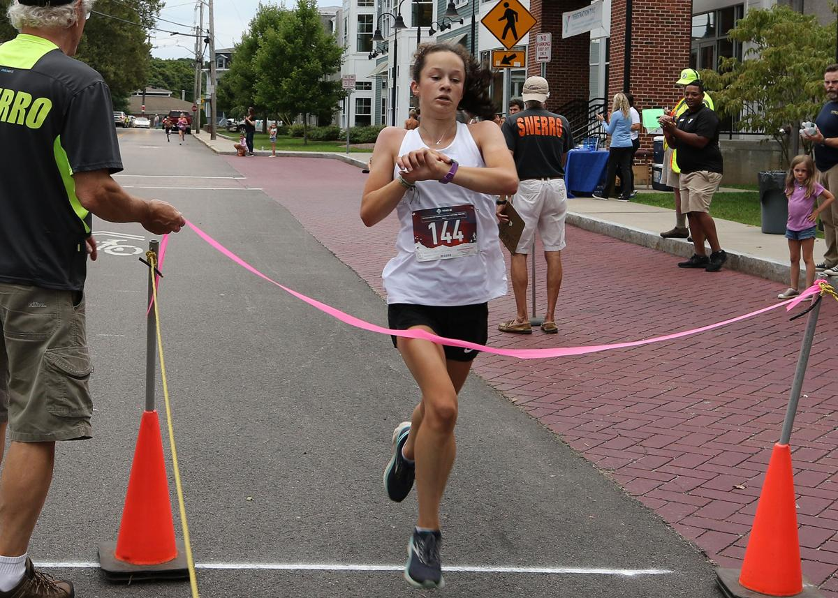 Finishing first in the female division of the 22nd Annual Roger H. Schonning 5k road race is Erin VonHousen at 20:41, which also placed her 8th overall. The annual race, sponsored by the Ocean Community YMCA, was held Friday evening, August 23rd, 2019. | Jackie L. Turner, Special to The Sun.