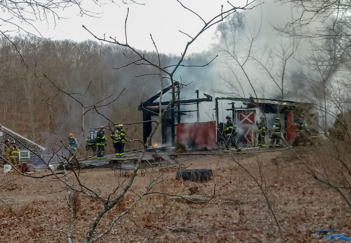 North Stonington barn fire