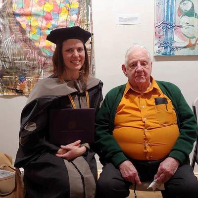 Ted Cerena attends granddaughter's graduation