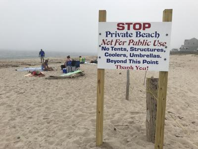 illegal beach sign