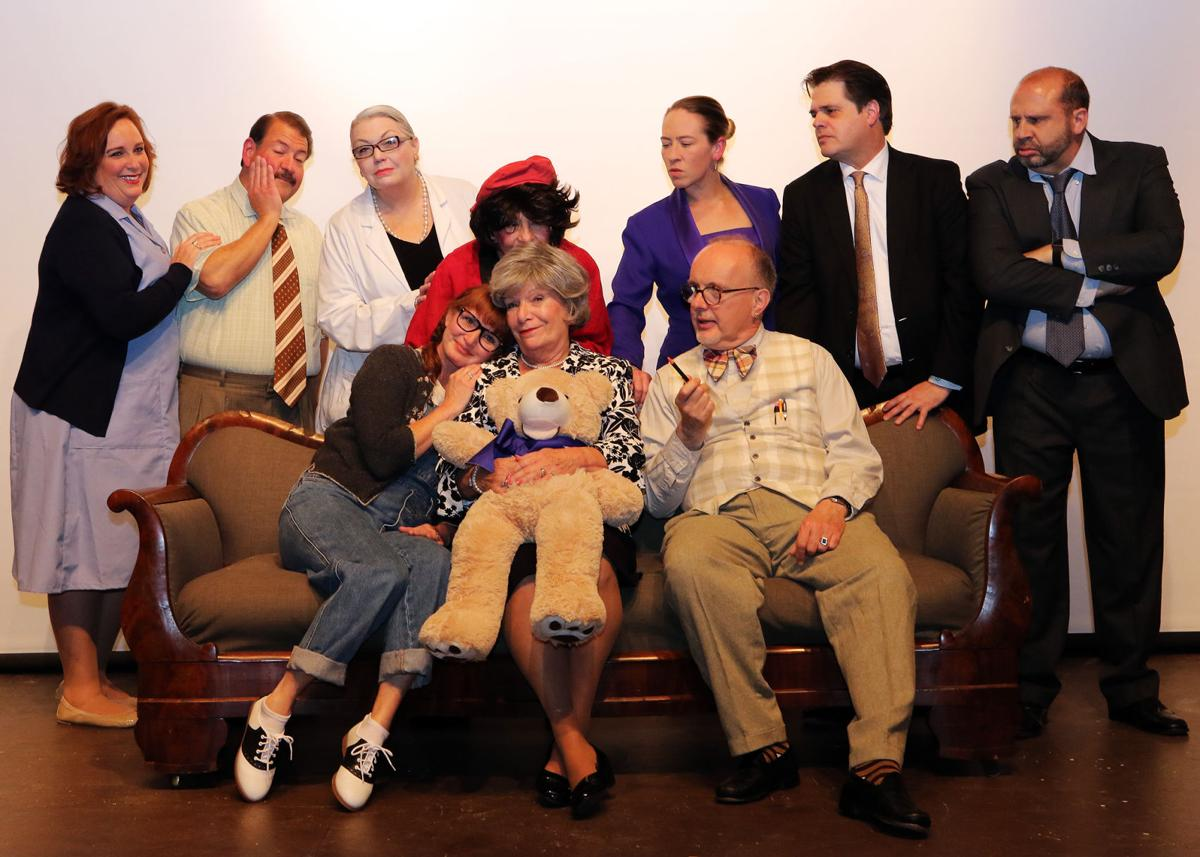 """The cast of the Granite Theater's production of """"The Curious Savage"""""""