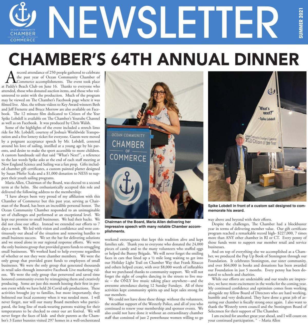Ocean Chamber Newsletter