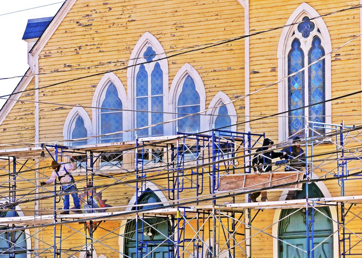 021920 WES Chorus of Westerly scaffolding erected 496.JPG