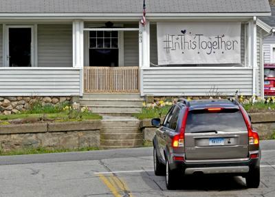 STN Together sign on porch-042820  10694.JPG