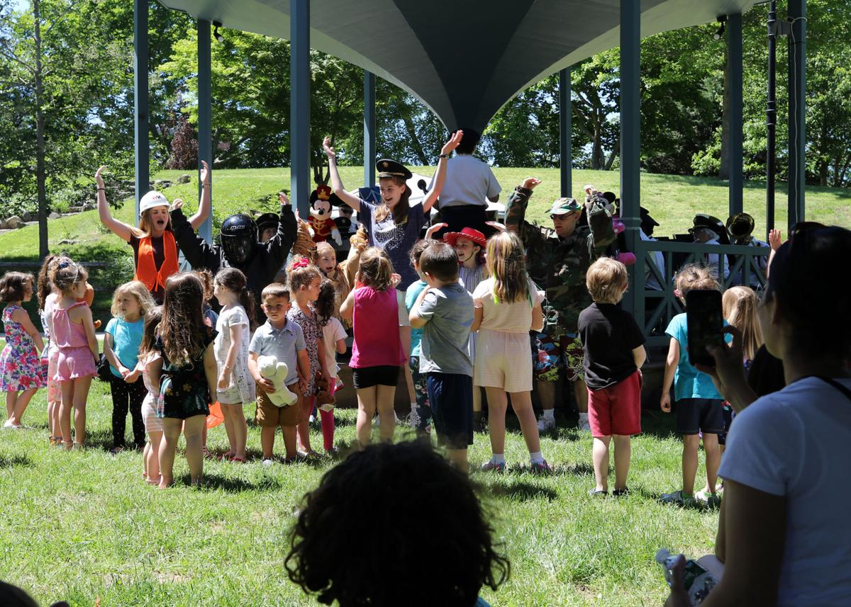 The Westerly Band Children's Concert, sponsored by the Westerly Library and Wilcox Park Association, was held Sunday, June 9th, 2019, at the Wilcox Park band stand. The yearly event brings together children, teens, their families and friends for a fun filled afternoon of music, story-telling and classic fairy-tail characters. | Jackie Turner, Special to The Sun.