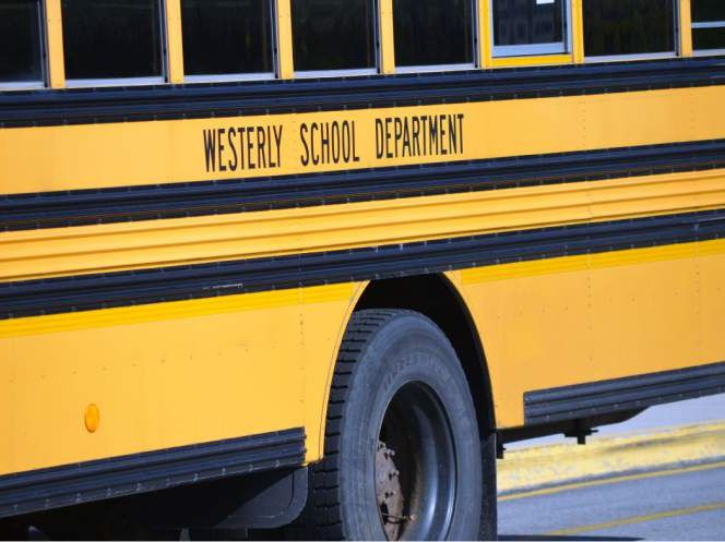 standing Westerly school bus