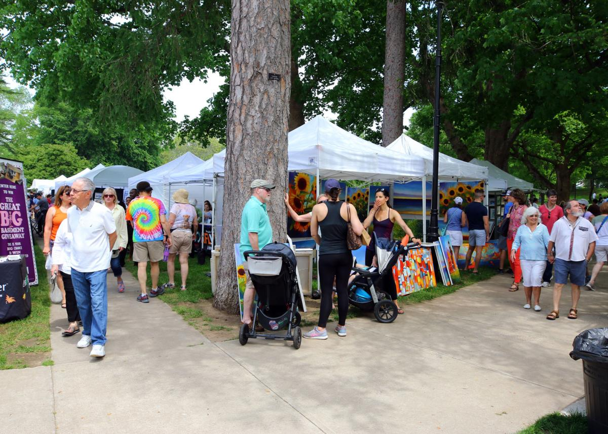 Walking the high road or the low road did not much matter at this year's 2018 Virtu Art Festival as there were dozens and dozens of arts and crafts vendors everywhere you looked.   Jackie Turner, Special to The Sun.