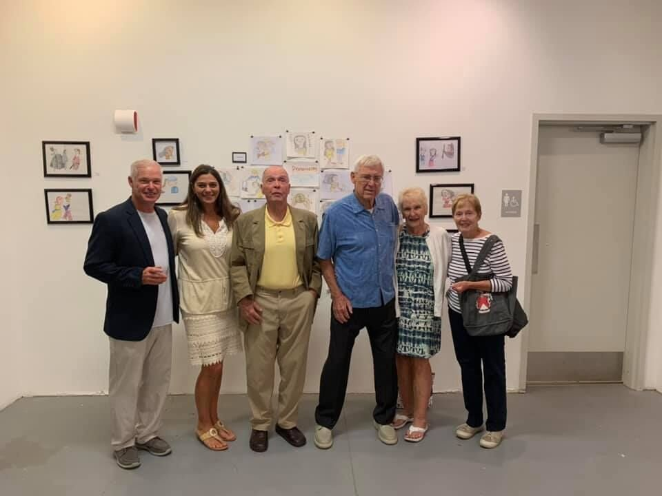 Sara's art show attracts fans and family from far and near