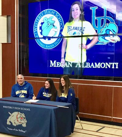 Megan Albamonti signs
