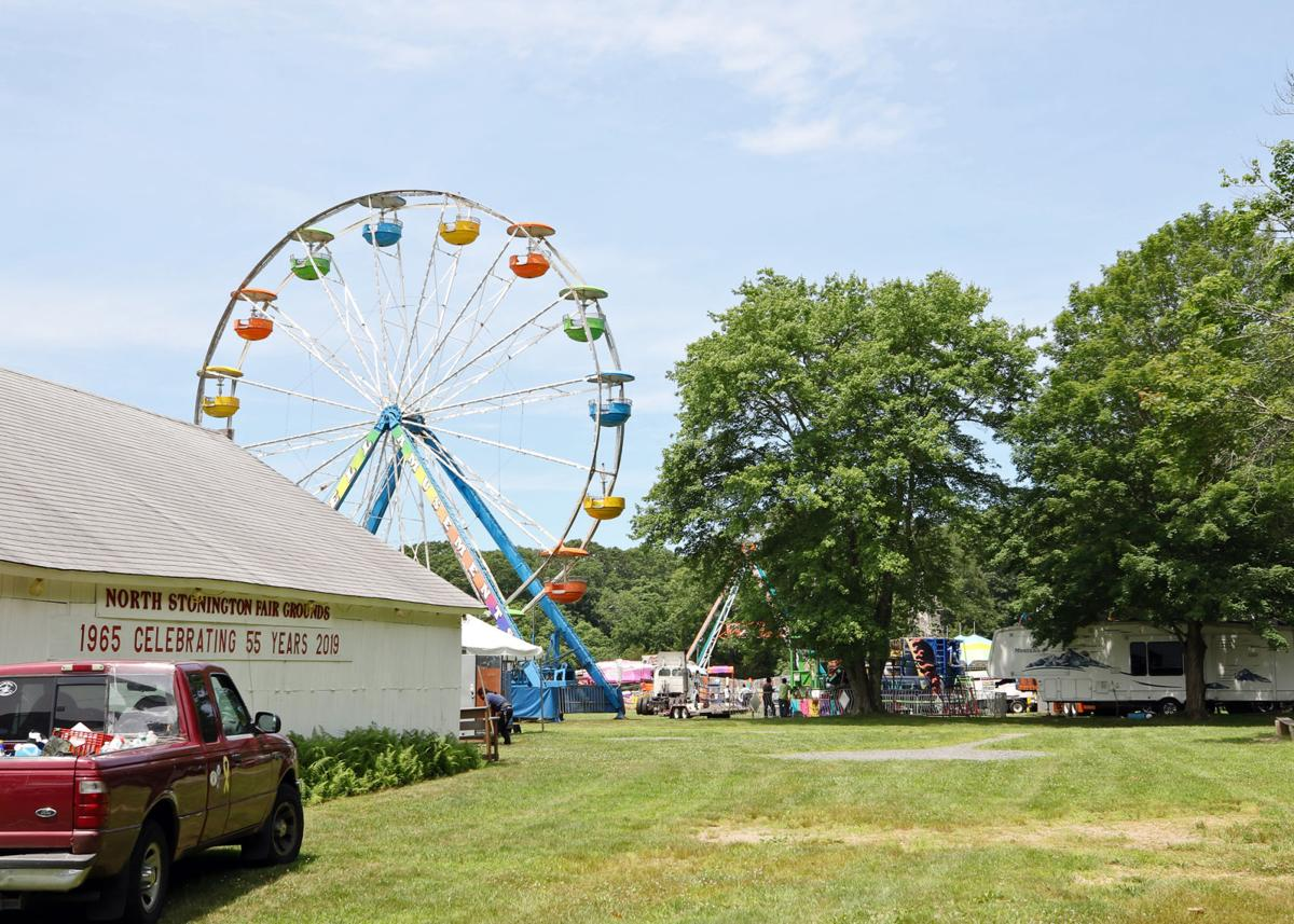 The grounds of the North Stonington Fair were just starting to get busy Monday afternoon, July 8th, 2019, as crews and concession stand owners went to work setting up and preparing for the opening of the 54th Annual North Stonington Agricultural Fair. This year's fair is scheduled for Thursday, July 11th, through Sunday, July 14th. | Jackie Turner, Special to The Sun.