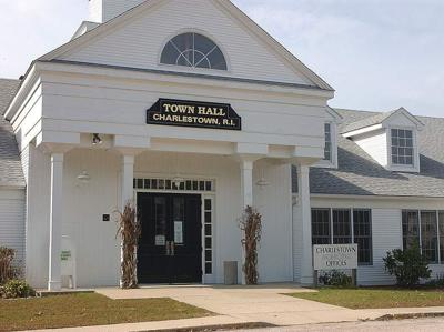 standing Charlestown Town Hall