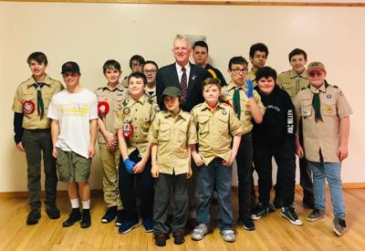 Pancake breakfast with scouts