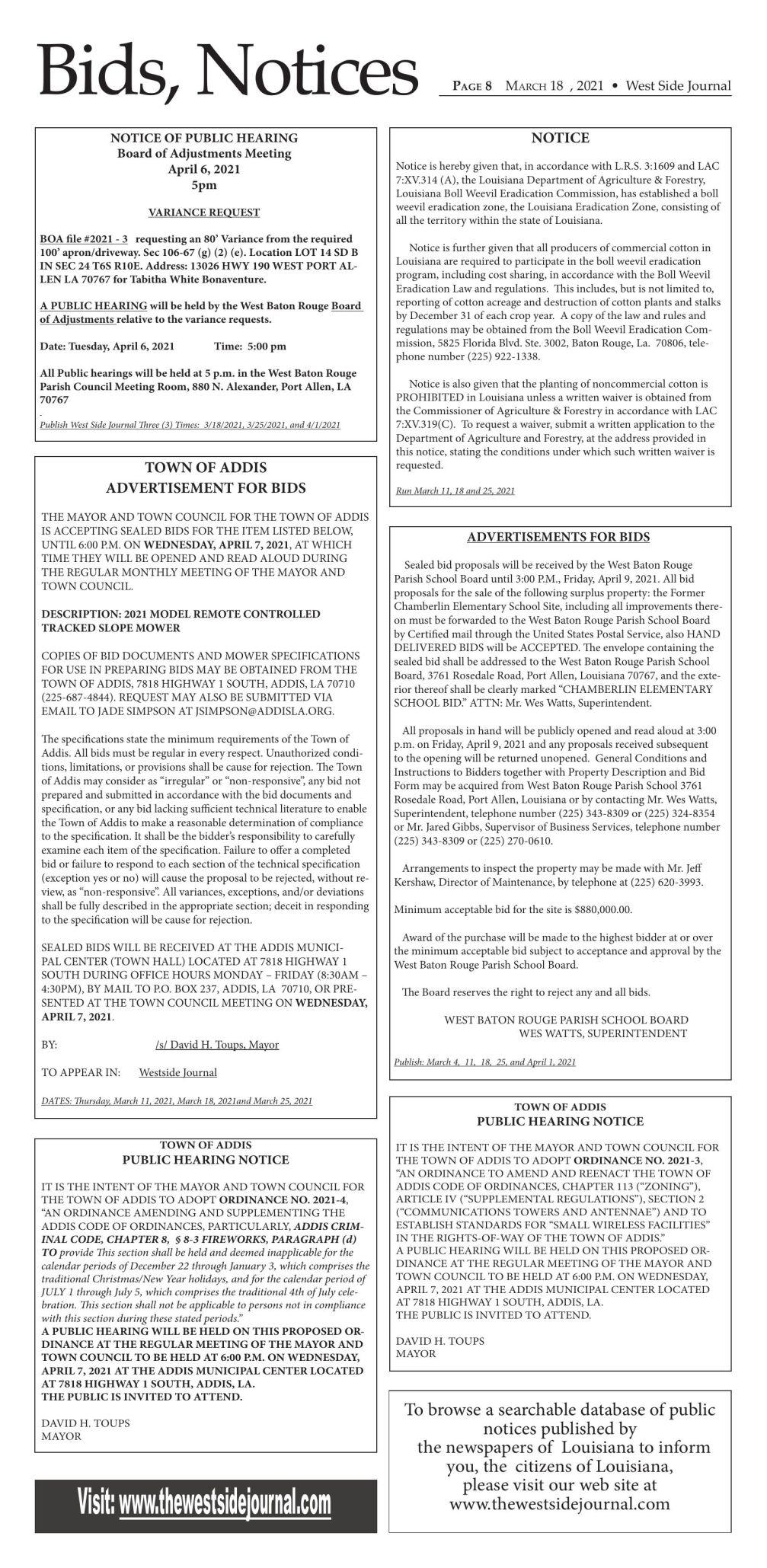 Legals & Public Notices