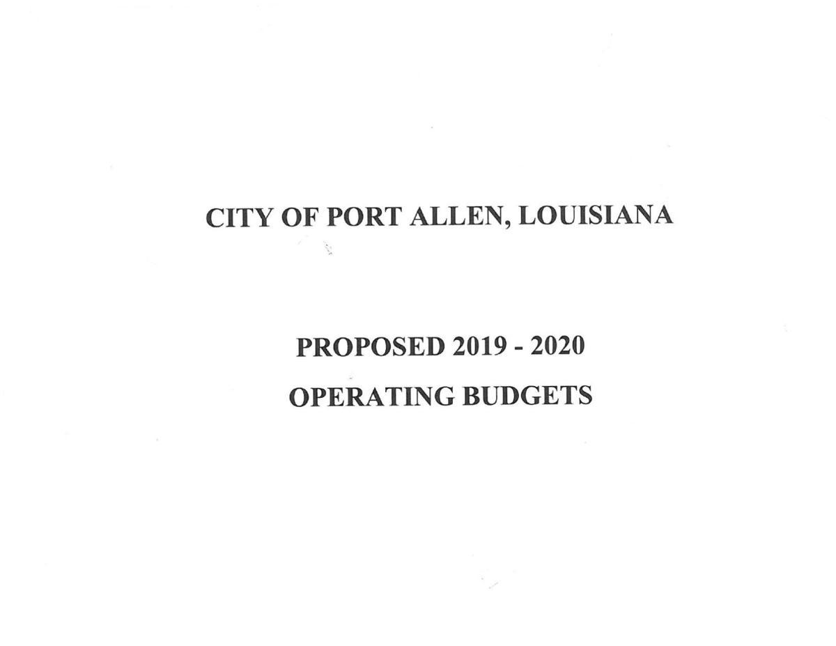 Port Allen 2019-2020 proposed budget