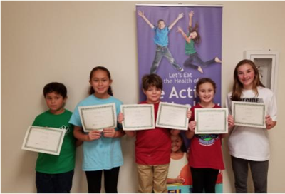 4-H Cookery Contest winners