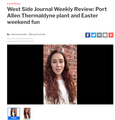 West Side Journal Weekly Review debut