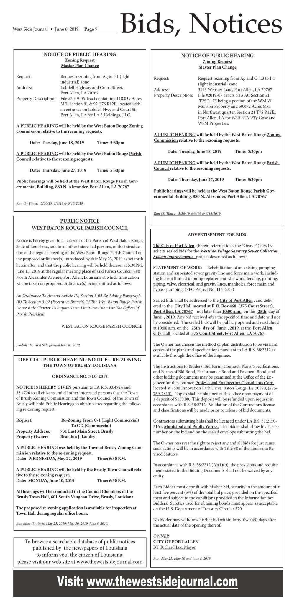 Bids & Notices 06.06.19