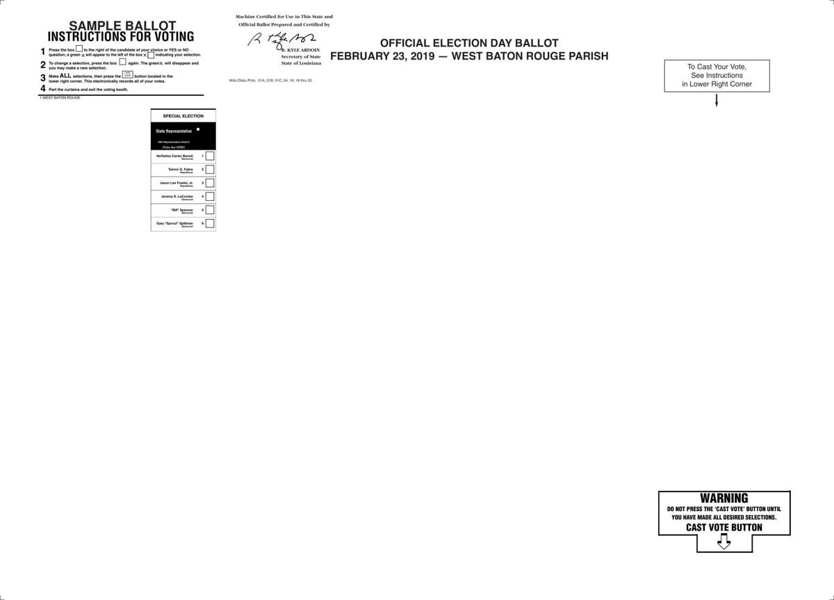 Sample Ballot for February 23 election