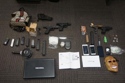 Evidence seized in Vehicle burglary arrest