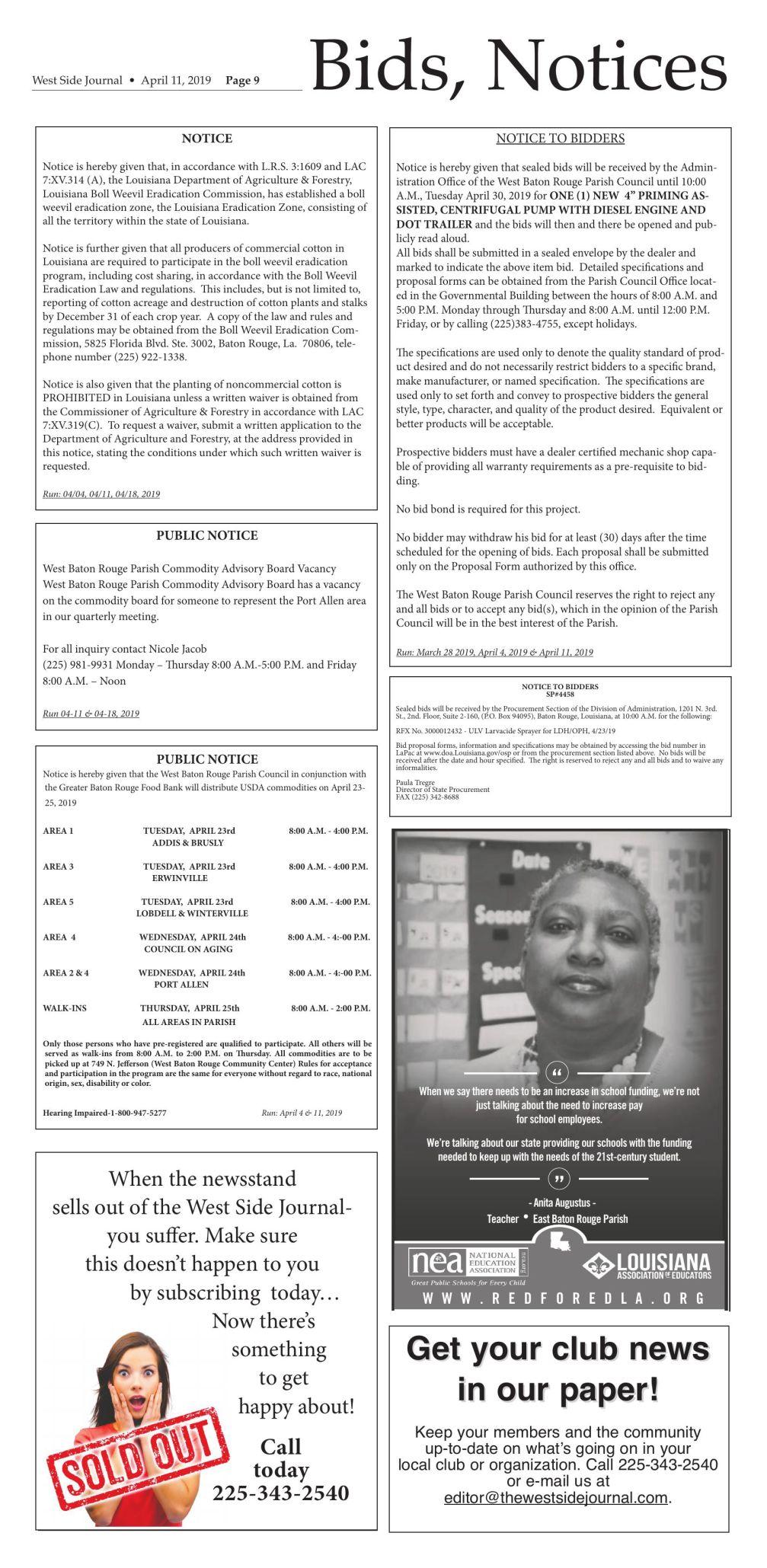 Bids & Notices 04.11.19