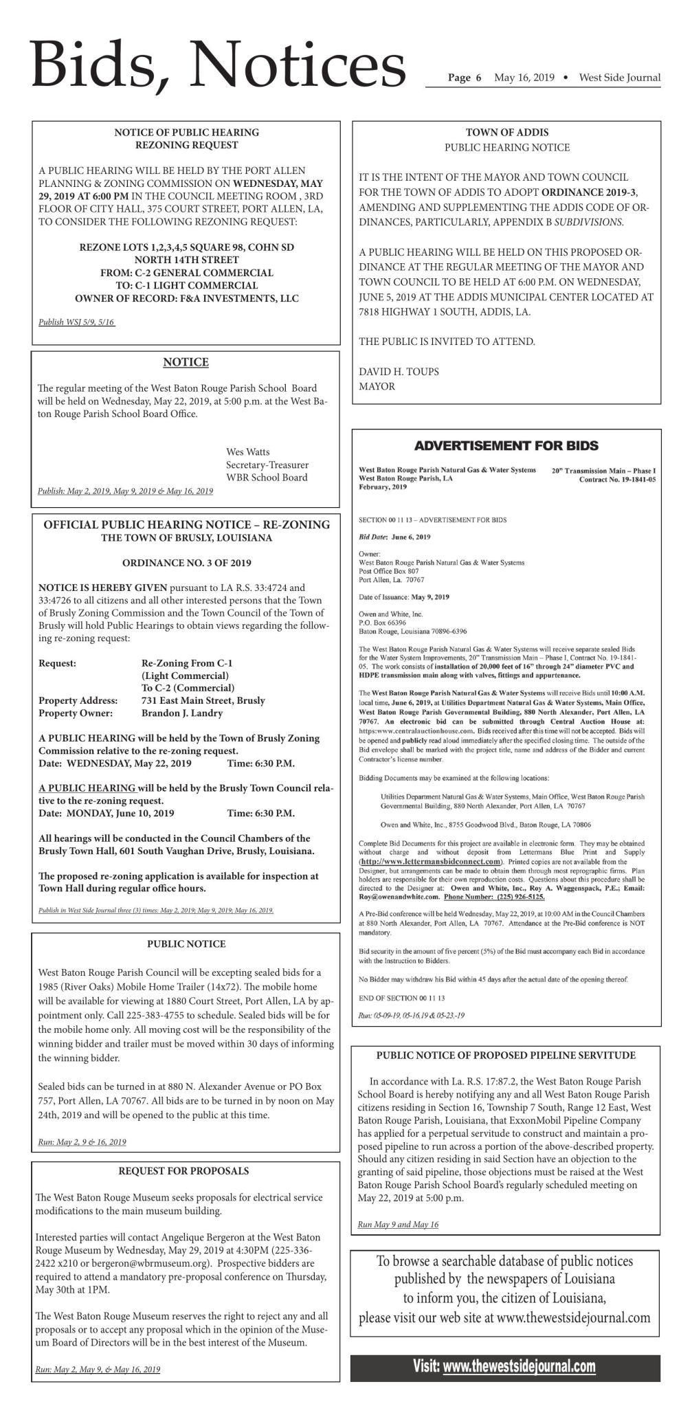 Bids and Notices 05.16.19