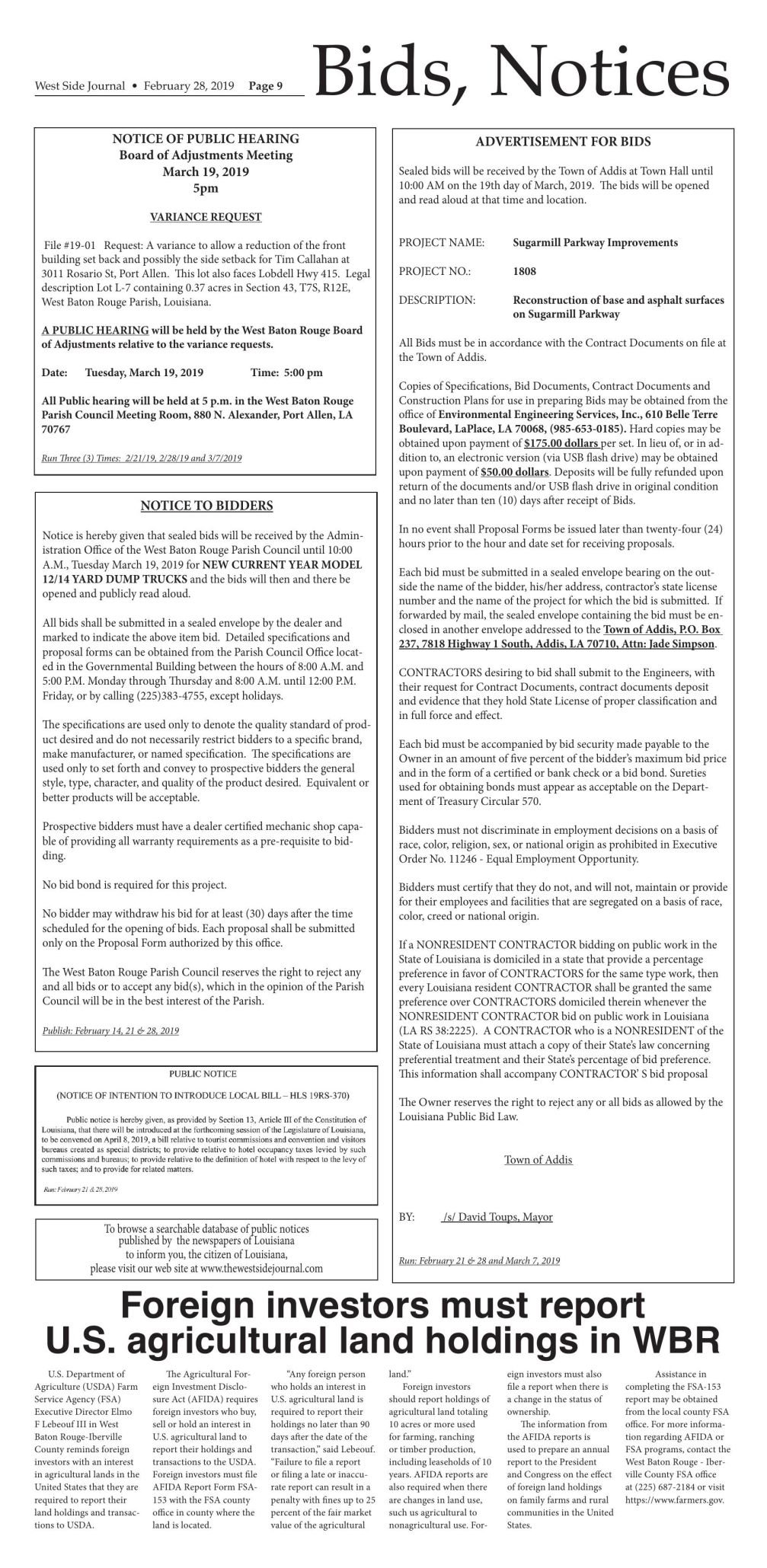 Bids and Notices 02.28.19