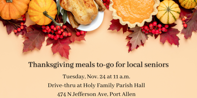 Thanksgiving Meals to-go