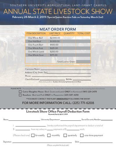 SU Meat order form