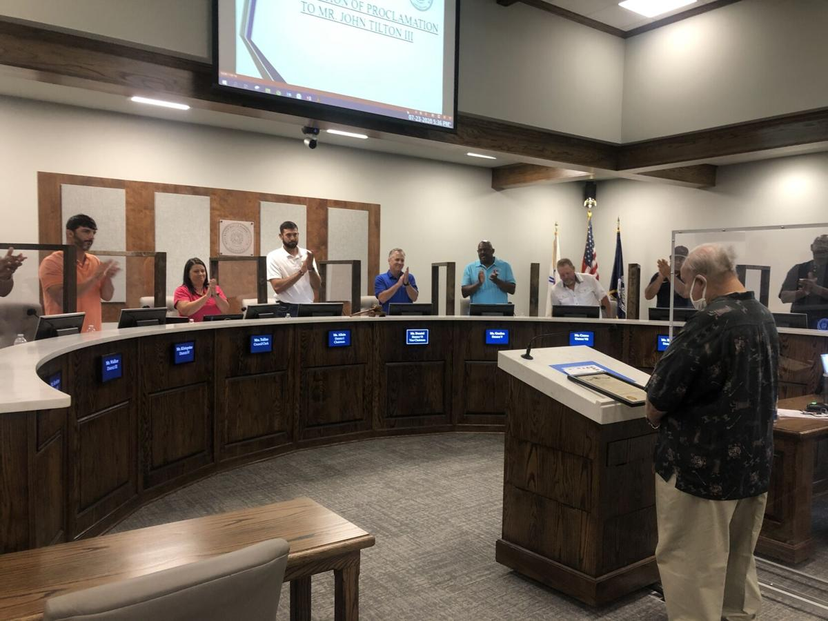 Parish Council honoring Tilton