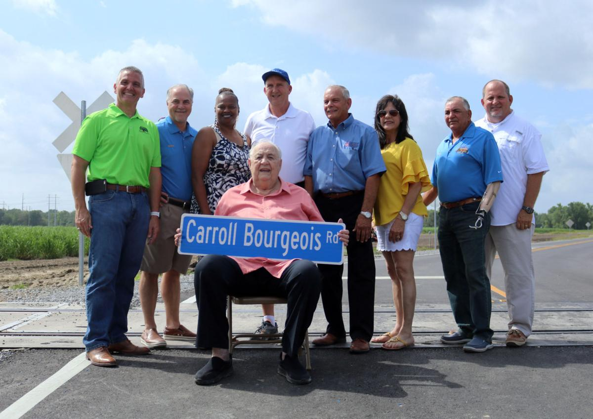 Carroll Bourgeois with Parish Council