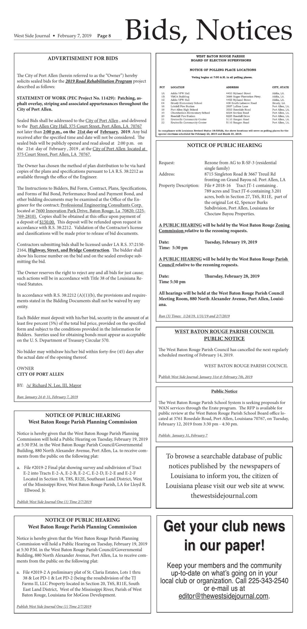 Bids and notices 02.07.19