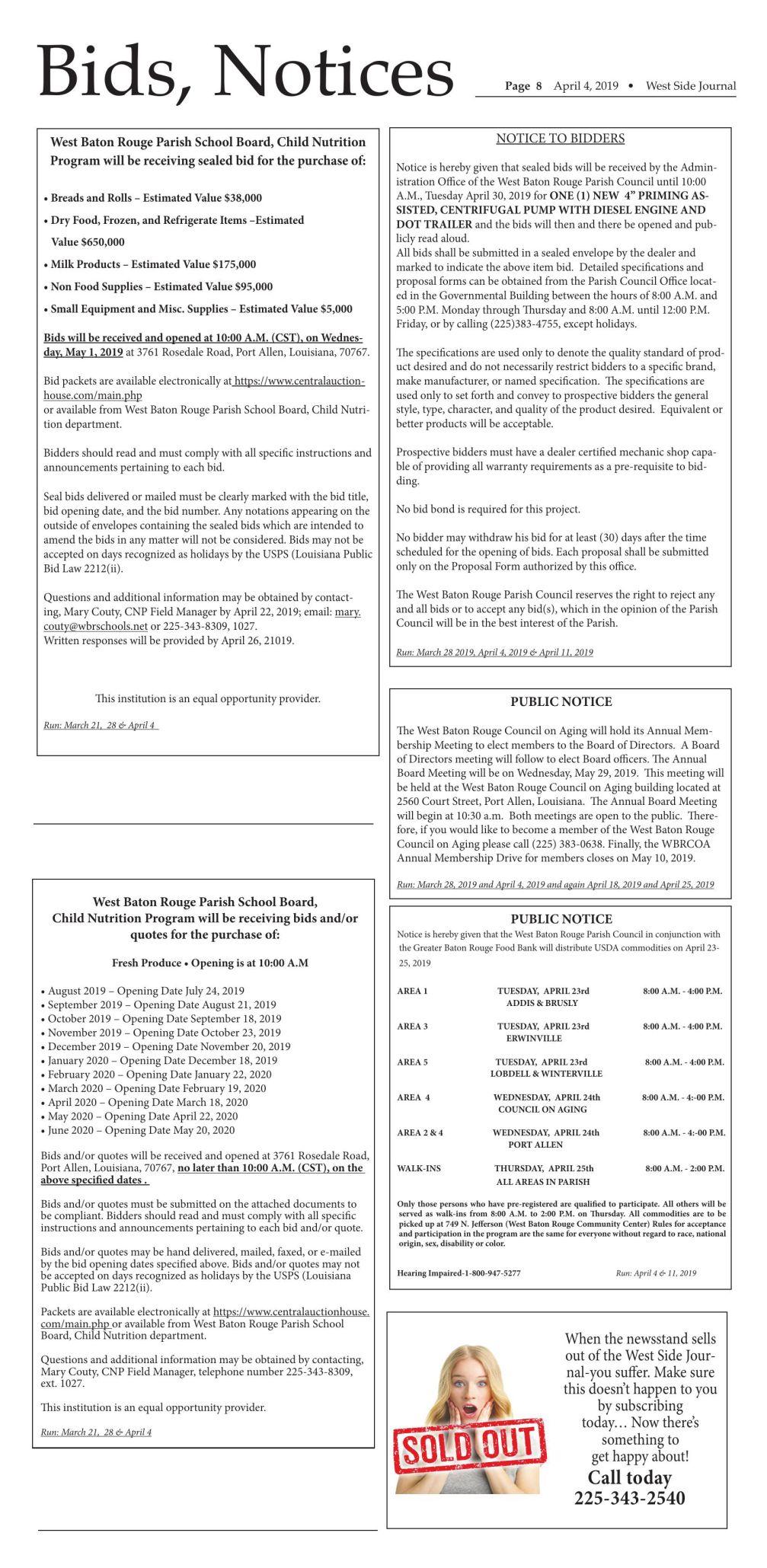 Bids & Notices 04.03.19