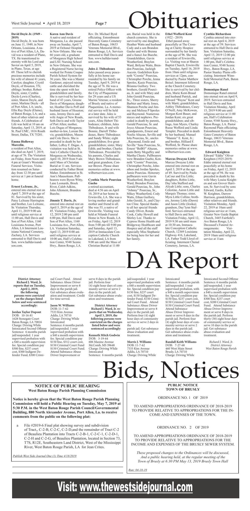 Bids & Notices 04.18.19