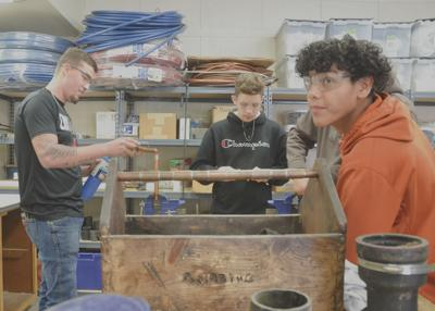ECTC plumbing, pipefitting students