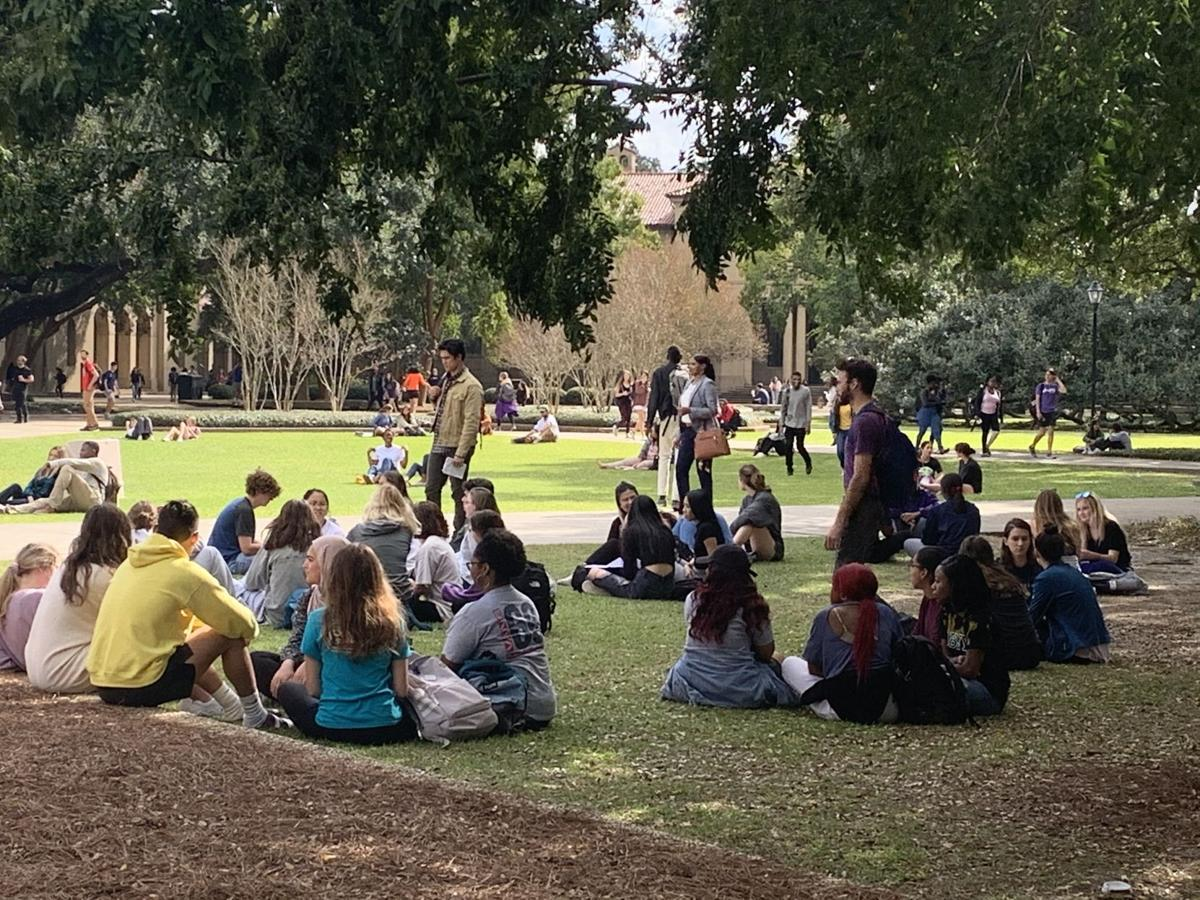 LSU students as extras in film production