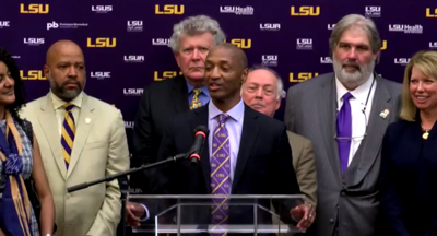 LSU names William Tate IV as next President of the University