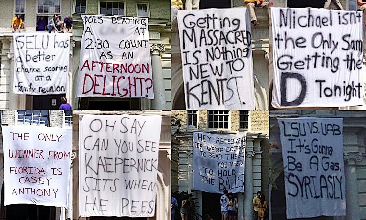DKE offensive banners