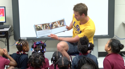 After overcoming adversity, swimmer Thomas Smith uses story to impact Baton Rouge community