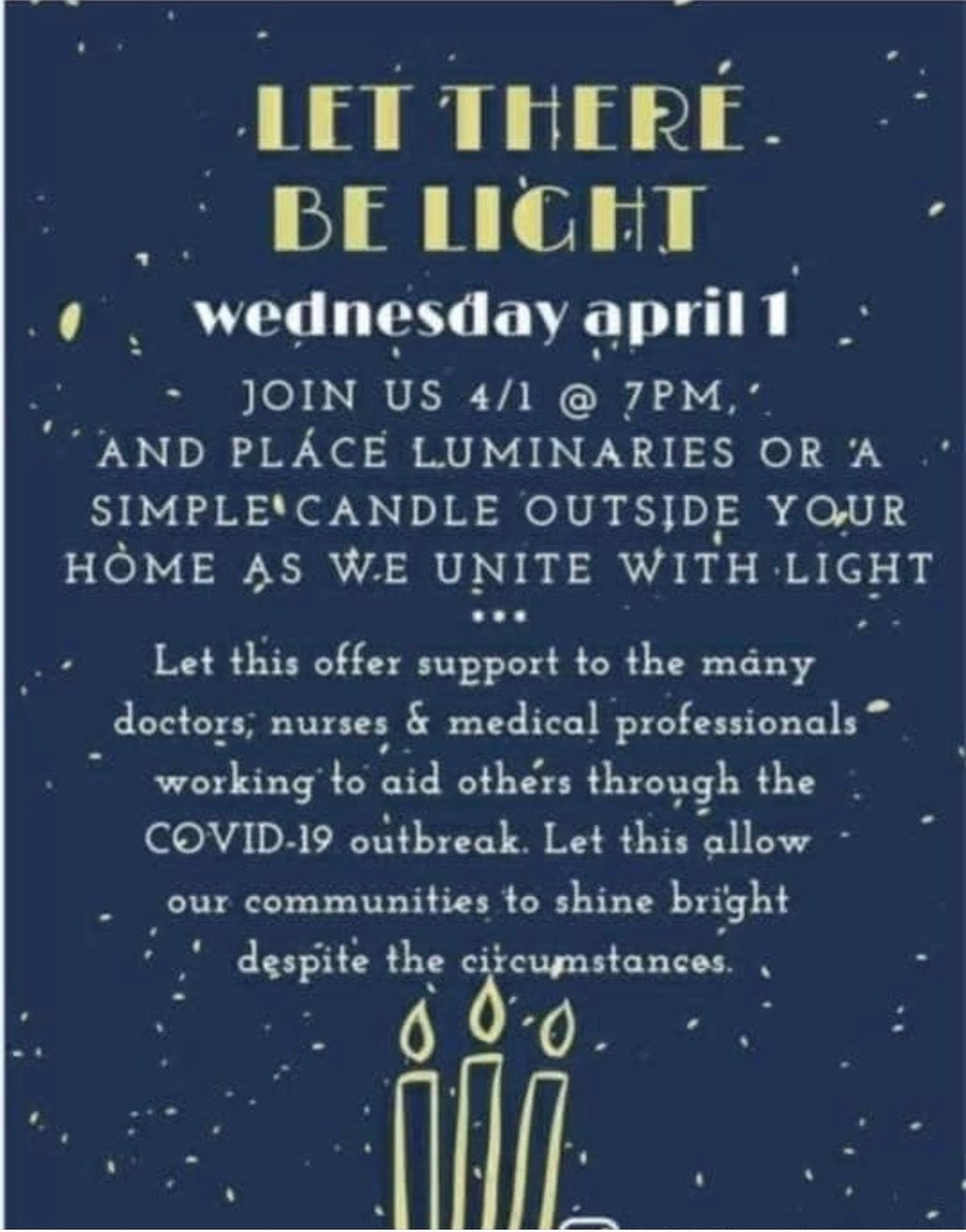 Let there be light healthcare support flyer