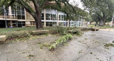 LSU Union following Hurricane Ida