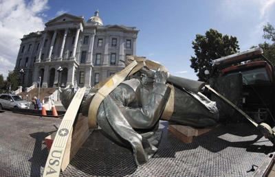 3 apprehended in attempted arson of Civil War monument base