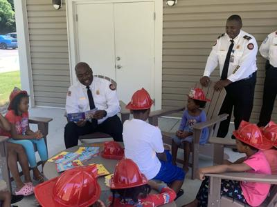 Fire department reads and share fire safety tips with community youths