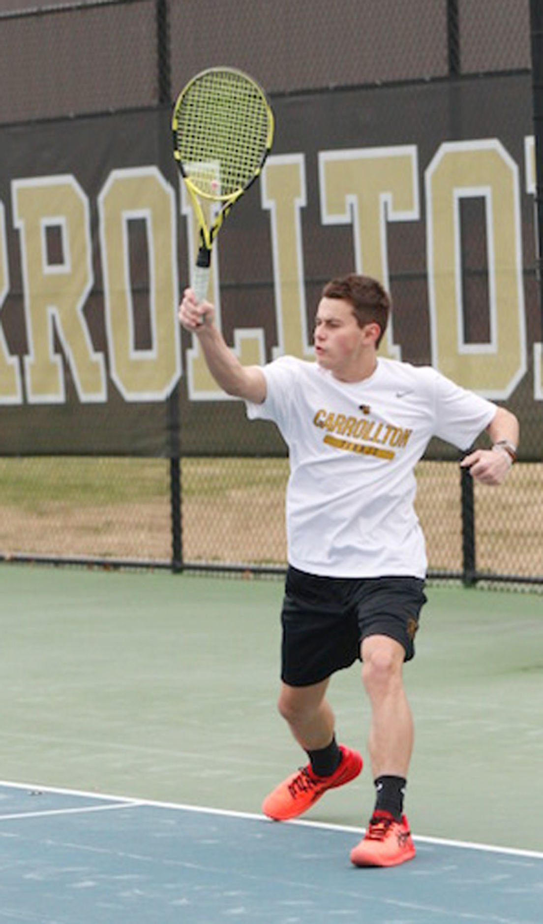 Trojan tennis back in semifinals, hosting Cambridge